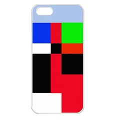 Colorful Abstraction Apple Iphone 5 Seamless Case (white) by Valentinaart