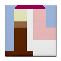 Colorful Abstraction Tile Coasters