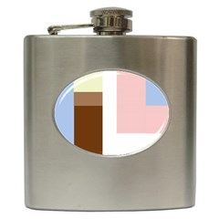 Colorful abstraction Hip Flask (6 oz) by Valentinaart