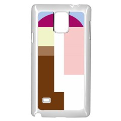 Colorful abstraction Samsung Galaxy Note 4 Case (White) by Valentinaart