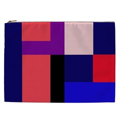 Colorful Abstraction Cosmetic Bag (xxl)  by Valentinaart
