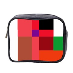 Colorful Abstraction Mini Toiletries Bag 2 Side by Valentinaart