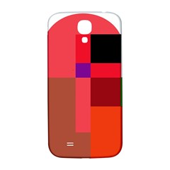 Colorful Abstraction Samsung Galaxy S4 I9500/i9505  Hardshell Back Case by Valentinaart