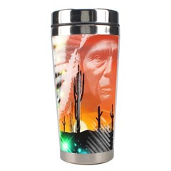 Ghost Dance Stainless Steel Travel Tumbler by icarusismartdesigns