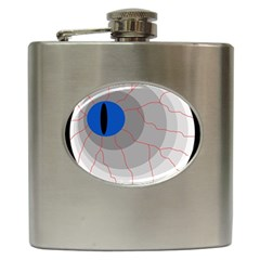 Blue Eye Hip Flask (6 Oz) by Valentinaart