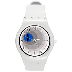 Blue Eye Round Plastic Sport Watch (m) by Valentinaart