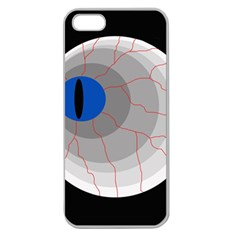 Blue Eye Apple Seamless Iphone 5 Case (clear) by Valentinaart