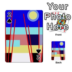 Abstract Landscape Playing Cards 54 Designs  by Valentinaart