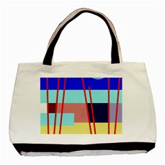 Abstract Landscape Basic Tote Bag by Valentinaart