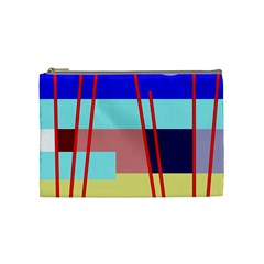 Abstract Landscape Cosmetic Bag (medium)  by Valentinaart