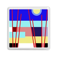 Abstract Landscape Memory Card Reader (square)  by Valentinaart