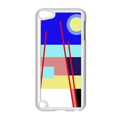 Abstract Landscape Apple Ipod Touch 5 Case (white) by Valentinaart