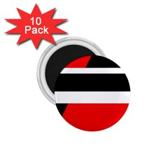 Red, White And Black Abstraction 1 75  Magnets (10 Pack)  by Valentinaart