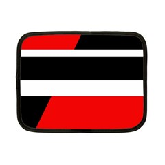 Red, White And Black Abstraction Netbook Case (small)  by Valentinaart