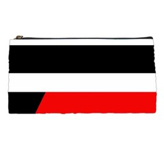 Red, White And Black Abstraction Pencil Cases by Valentinaart
