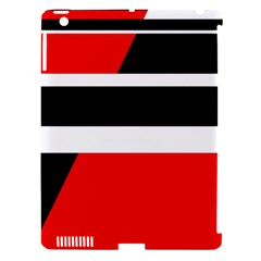 Red, White And Black Abstraction Apple Ipad 3/4 Hardshell Case (compatible With Smart Cover) by Valentinaart
