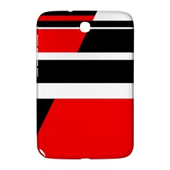 Red, White And Black Abstraction Samsung Galaxy Note 8 0 N5100 Hardshell Case  by Valentinaart