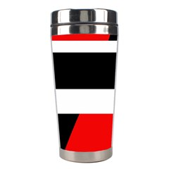Red, White And Black Abstraction Stainless Steel Travel Tumblers by Valentinaart