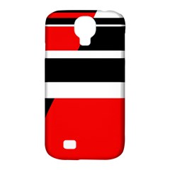 Red, White And Black Abstraction Samsung Galaxy S4 Classic Hardshell Case (pc+silicone) by Valentinaart