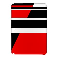 Red, White And Black Abstraction Samsung Galaxy Tab Pro 12 2 Hardshell Case by Valentinaart