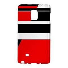 Red, White And Black Abstraction Galaxy Note Edge by Valentinaart