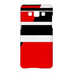 Red, white and black abstraction Samsung Galaxy A5 Hardshell Case  by Valentinaart