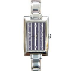 Elegant Lines Rectangle Italian Charm Watch by Valentinaart