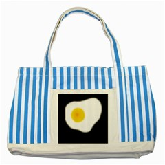 Egg Striped Blue Tote Bag by Valentinaart