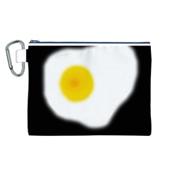 Egg Canvas Cosmetic Bag (l) by Valentinaart