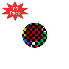 Colorful Abstraction 1  Mini Buttons (100 Pack)  by Valentinaart