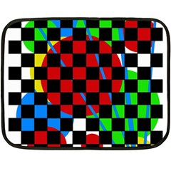Colorful Abstraction Fleece Blanket (mini) by Valentinaart