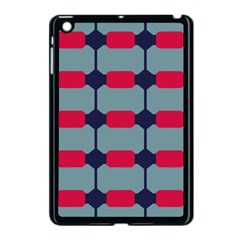 Red Blue Shapes Pattern                                                                                     			apple Ipad Mini Case (black) by LalyLauraFLM