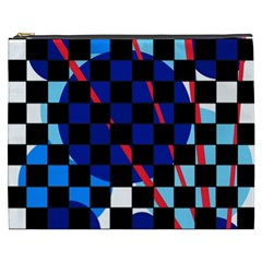 Blue Abstraction Cosmetic Bag (xxxl)  by Valentinaart