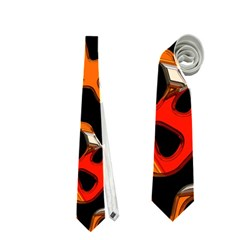Metallic Shapes In Retro Colors                                                                                      Necktie
