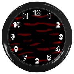 Red And Black Wall Clocks (black) by Valentinaart