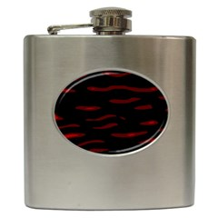 Red and black Hip Flask (6 oz) by Valentinaart