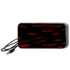 Red and black Portable Speaker (Black)  by Valentinaart
