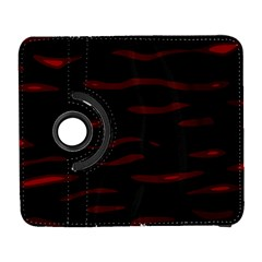 Red And Black Samsung Galaxy S  Iii Flip 360 Case by Valentinaart