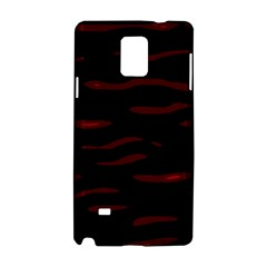 Red And Black Samsung Galaxy Note 4 Hardshell Case by Valentinaart