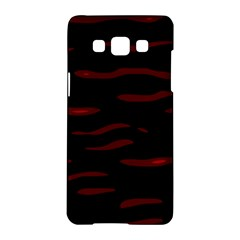 Red And Black Samsung Galaxy A5 Hardshell Case  by Valentinaart