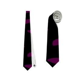 Purple And Black Neckties (two Side)  by Valentinaart