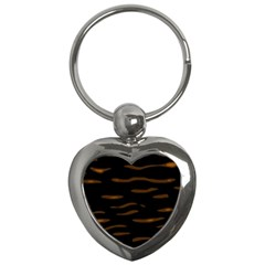 Orange And Black Key Chains (heart)  by Valentinaart