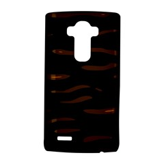 Orange And Black Lg G4 Hardshell Case by Valentinaart