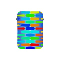 Colorful Shapes On A Blue Background                                                                                      			apple Ipad Mini Protective Soft Case by LalyLauraFLM