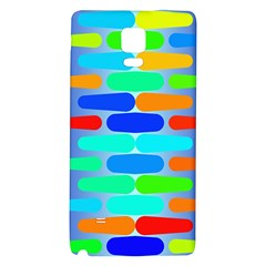 Colorful Shapes On A Blue Background                                                                                      			samsung Note 4 Hardshell Back Case by LalyLauraFLM