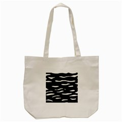 Black And White Tote Bag (cream) by Valentinaart