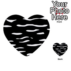 Black And White Multi Purpose Cards (heart)  by Valentinaart