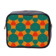Honeycombs And Triangles Pattern                                                                                       Mini Toiletries Bag (two Sides) by LalyLauraFLM