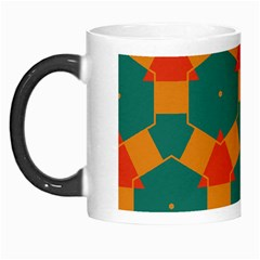 Honeycombs And Triangles Pattern                                                                                       Morph Mug by LalyLauraFLM