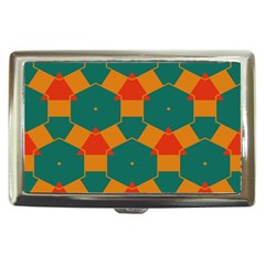 Honeycombs And Triangles Pattern                                                                                       cigarette Money Case by LalyLauraFLM
